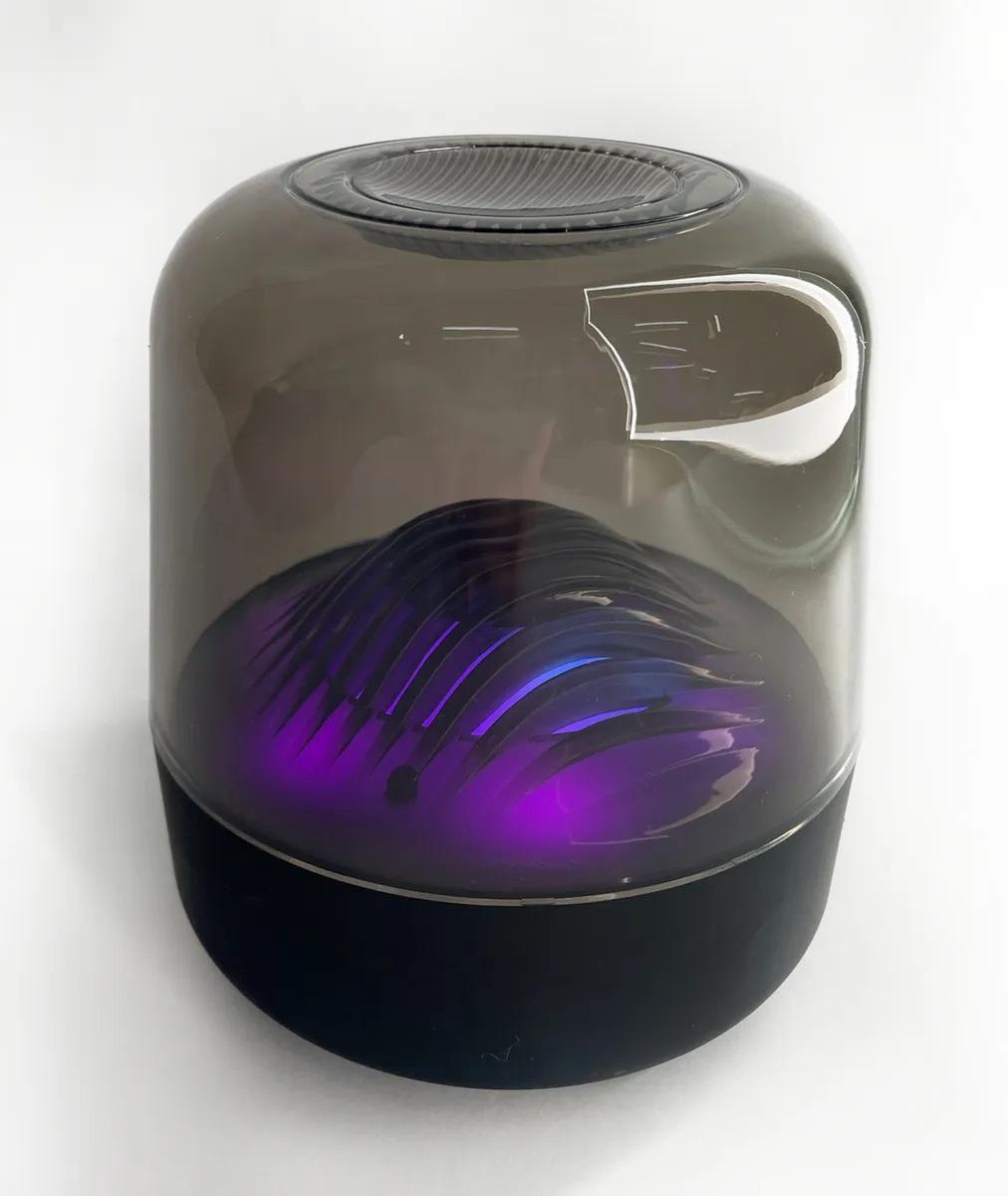 Беспроводная портативная акустическая система Big Diamond, Bluetooth колонка с умной подсветкой, глубокий звук, чёрный