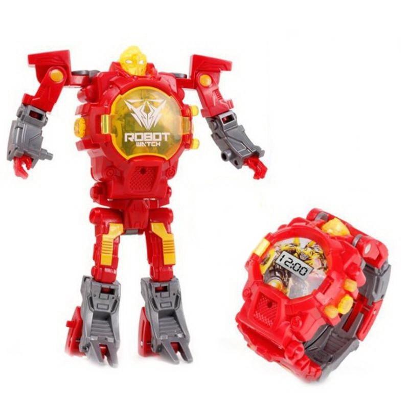 Часы-игрушка трансформер Robot Watch, красныйСпортивные LED часы<br>Ваш ребенок не совсем хорошо понимает часы? Его просто нужно заинтересовать! Вам поможет часы-игрушка трансформер Robot Watch!<br>