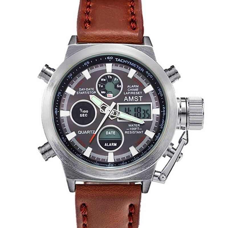 Часы AMST 3003 - серебристый корпус, серый циферблатМеханические часы<br>Любите нестандартные и качественные аксессуары?  Часы AMST 3003 подчеркнут чувство стиля и индивидуальность каждого мужчины. Изделие отличается прочностью, надежностью и доступной ценой в интернет магазине Мелеон. В ассортименте разные цвета на любой вкус!<br>