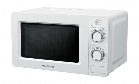 Микроволновая печь WILLMARK WMO-288MBW (20л, 700Вт, механич.ПУ, кнопка д/открыв. дверцы,лампа,белая)