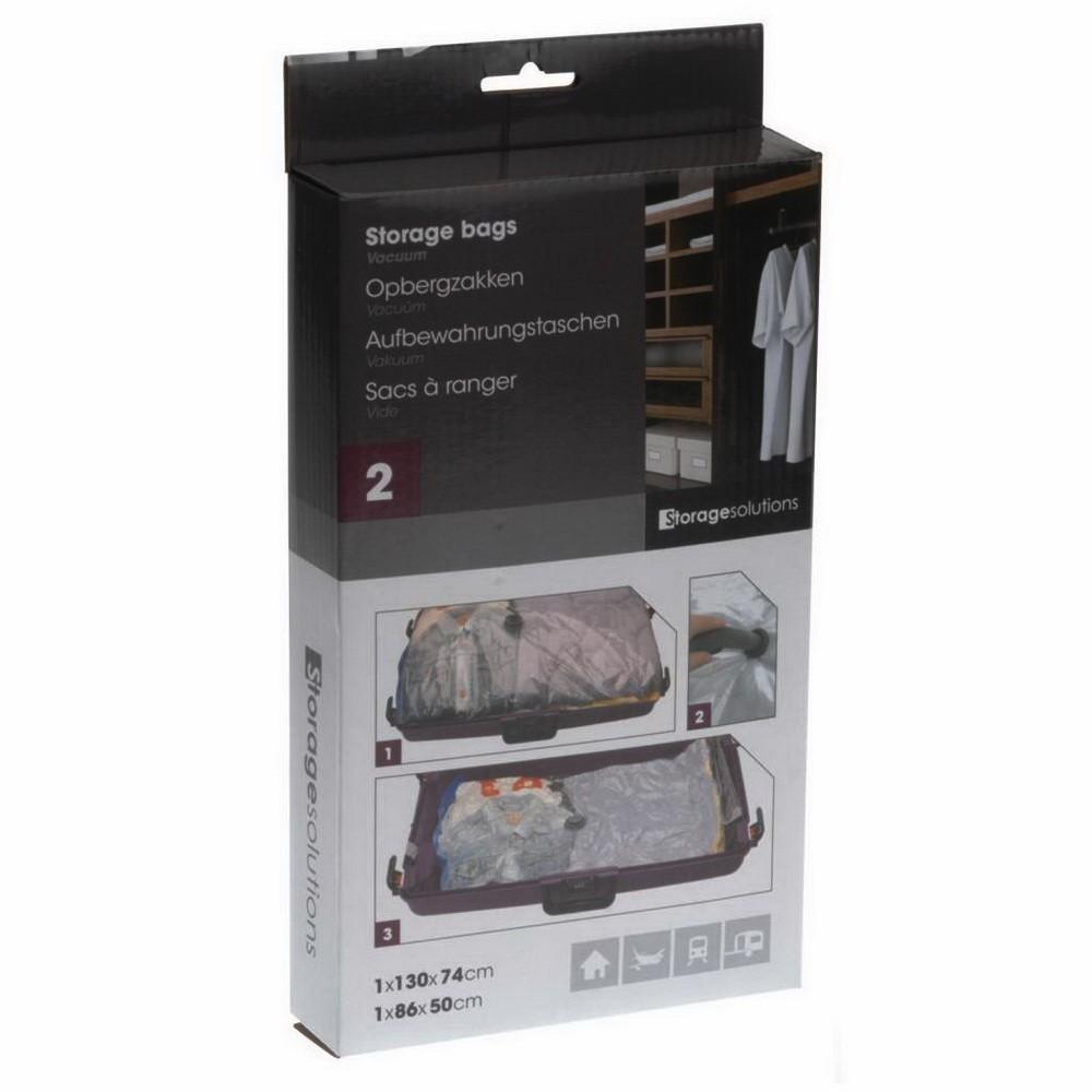 Вакуумные пакеты с вешалкой 3 шт: 2 шт-70х105, 1 шт-70х145 см