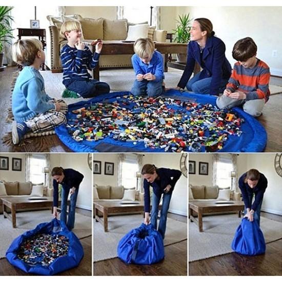 Сумка-коврик для игрушек Toy Bag, 100 см - красно-синий