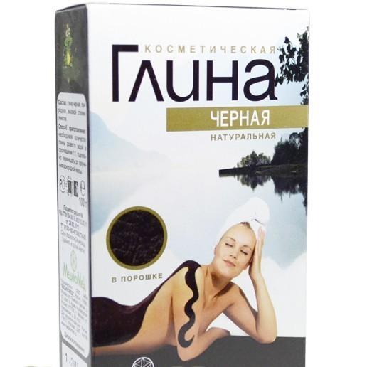Глина черная косметическая МедикоМед, 100г