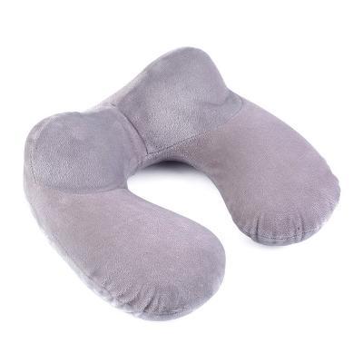 Удобная дорожная подушка, серый