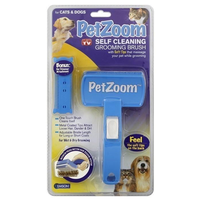 Щетка для вычесывания кошек и собак pet zoom