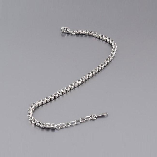 Браслет с кристаллами «Змейка» - цвет серебро от MELEON