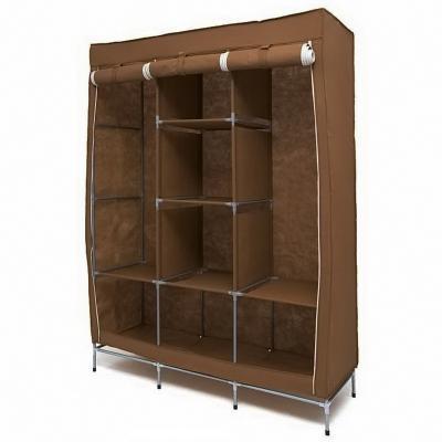 Мобильный тканевый шкаф Storage Wardrobe, коричневыйШкафы тканевые<br>Ищете новую мебель для своего уютного гнездышка? Обязательно обратите внимание на мобильный тканевый шкаф Storage Wardrobe синего цвета. Эта мебель отличается от других моделей своей вместительностью, неподражаемым дизайном, надежностью и доступностью!