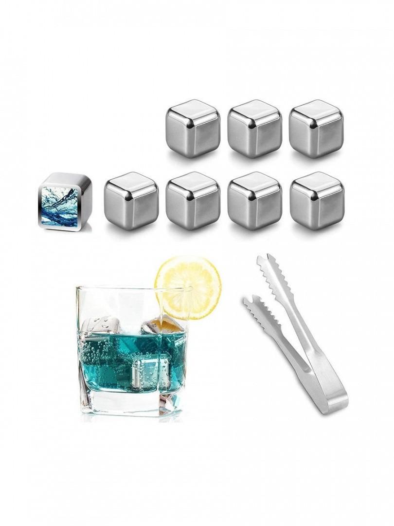 Камни для охлаждения напитков с щипцами, 8 шт