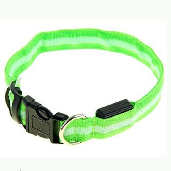 Светящийся ошейник - 40-45 см - зеленый от MELEON