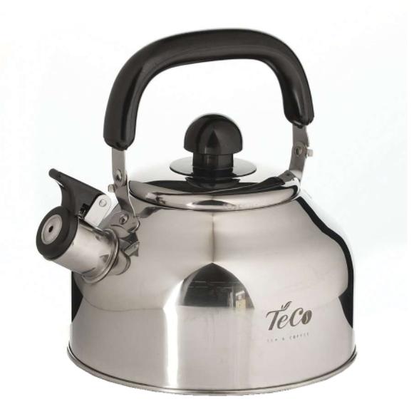 Чайник TECO 2,8 л. со свистком и капсульным дномЧайники металлические<br>Чайник оборудован свистком для определения закипания воды и изготовлен из высококачественной нержавеющей стали. Капсульное дно распределяет тепло равномерно по всей поверхности, что обеспечивает быструю скорость закипания.<br>