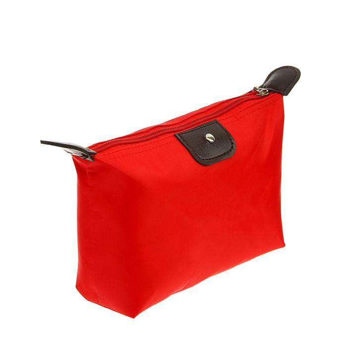 Косметичка-сумочка на молнии, 17х12х7 см, Красный фото