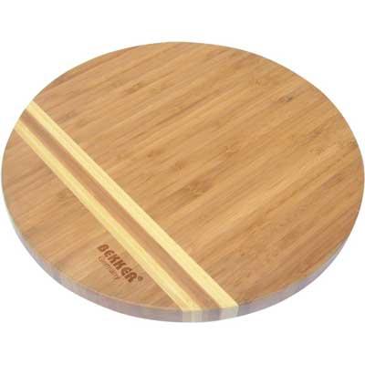 Доска разделочная бамбук 25х1,8см Bekker BK-9726Доски разделочные<br>Круглая разделочная доска «Bekker» изготовлена из высококачественной древесины бамбука темного цвета со светлыми полосками, обладает антибактериальными свойствами. Бамбук - инновационный материал, идеально подходящий для разделочных досок. Доски из бамбука обладают высокой плотностью структуры древесины, а также устойчивы к механическим воздействиям. Функциональная и простая в использовании, разделочная доска «Bekker» прекрасно впишется в интерьер любой кухни и прослужит вам долгие годы. Материал: бамбук. Диаметр доски: 25 см. Толщина: 1,8 см.<br>