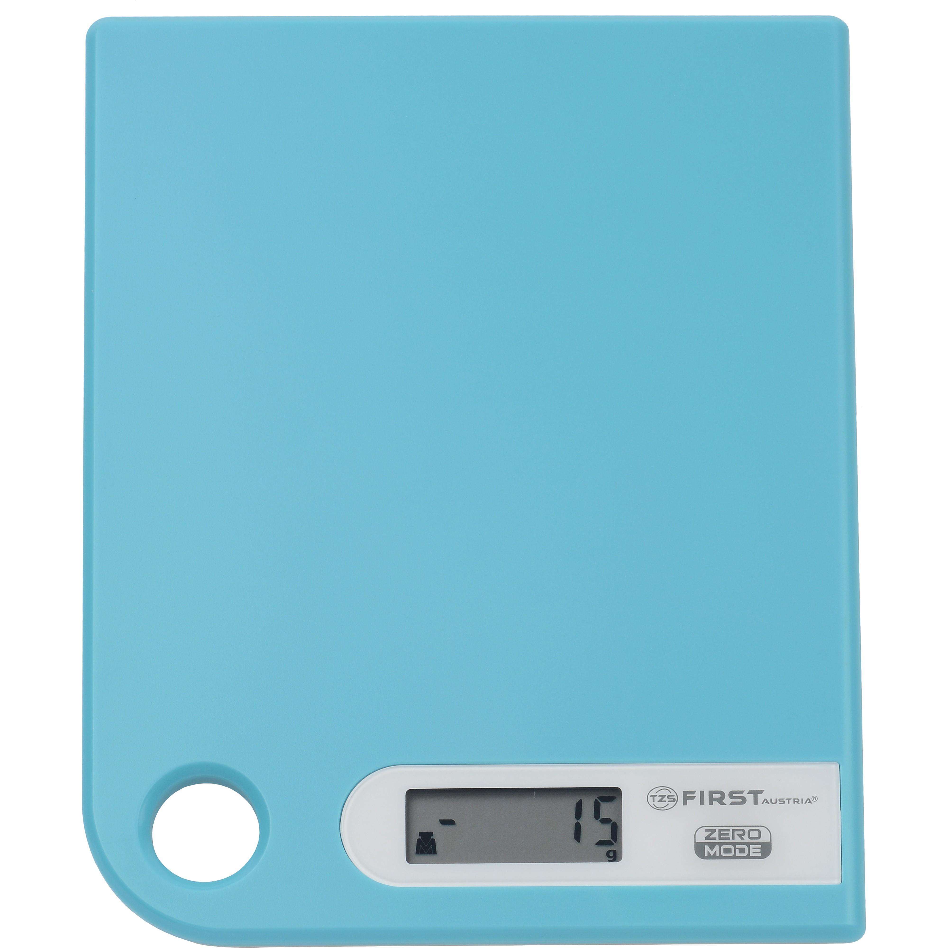 Весы кухонные FIRST 6401-1 blueКухонные весы<br>Простые и удобные для использования цифровые весы First 6401-1 с петлей для подвешивания всегда будут под рукой.<br>