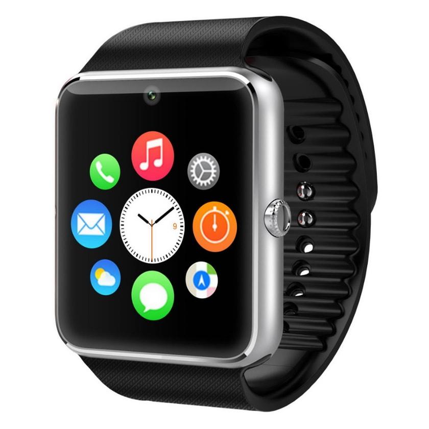 Умные часы GT08 watch - SilverУмные Smart часы<br>Полная и расширенная функциональность, поддержка Android и 95% прошивок. GT08 Smart Watch – это маленький смартфон у вас на руке, который умеет все основные функции телефона и даже больше! Принимает звонки, фотографирует, записывает видео, следит за вашим распорядком дня, считает шаги и калории, проигрывает музыку и многое другое! В трех цветах: золотой, серебро, черный.<br>