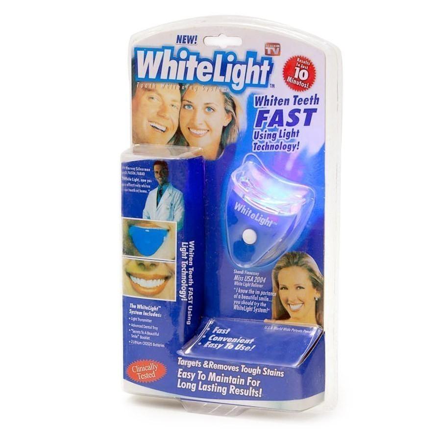 Отбеливание зубов White LightОтбеливатели зубов<br>Красивые, здоровые, белые зубы - обязательная часть имиджа современного человека. В стоматологических клиниках советуют проводить процедуру отбеливания зубов минимум раз в полгода, но не всегда и не у всех на это есть время. А если white light купить, то процедуру отбеливания можно с комфортом провести и в домашних условиях, причем – по более низкой стоимости!<br>