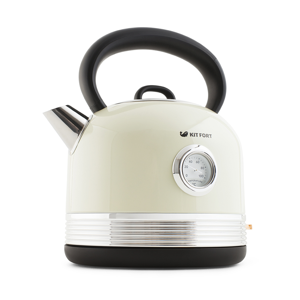 Чайник Kitfort КТ-634-1, графит, бежевый фото