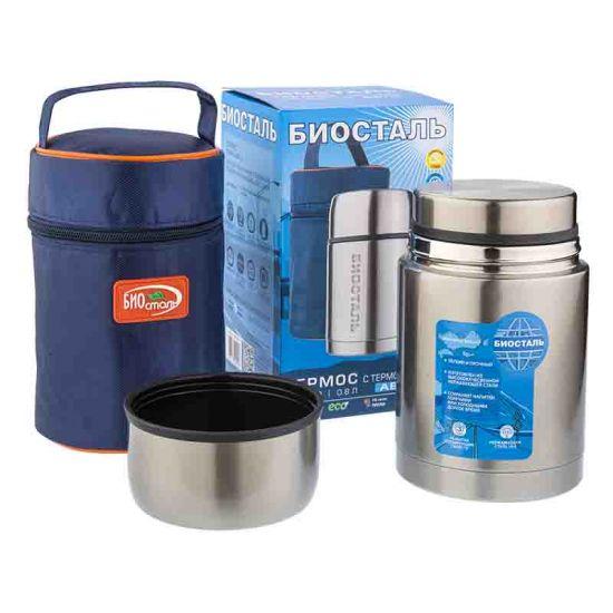 Термос «BIOSTAL-АВТО» (500мл.суповой,. с термочехлом) NRP-500Термосы<br>Термос вмещает 0.5 л напитка или жидкой еды, а его особая конструкция способствует сохранению тепла до 12 часов.<br>