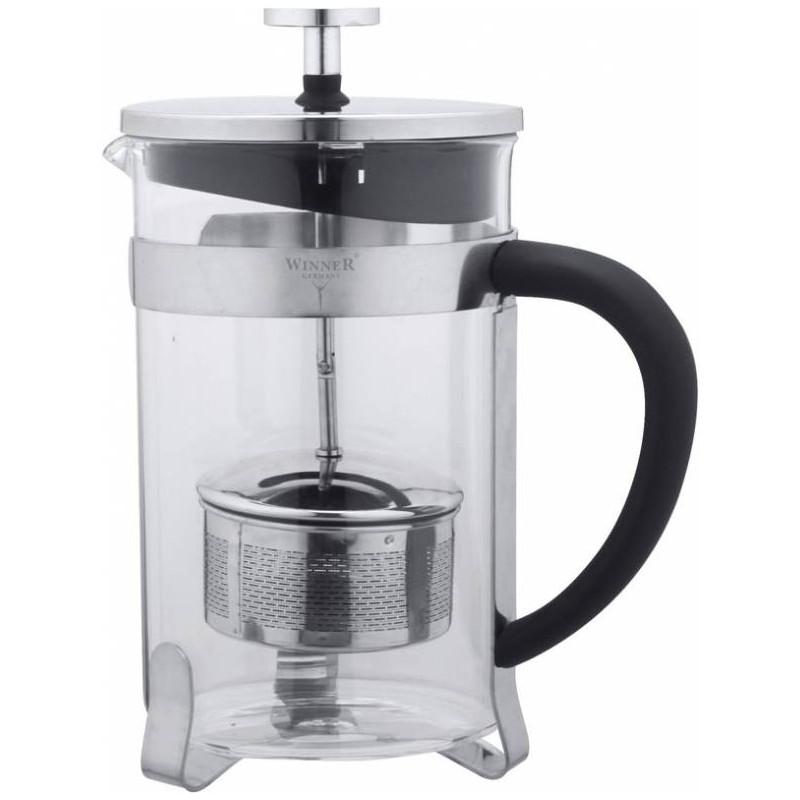 Чайник заварочный WINNER WR-5208 800млЧайники заварочные и френч-прессы<br>Заварочный чайник «Winner» позволит быстро и просто приготовить свежий и ароматный кофе или чай.<br>