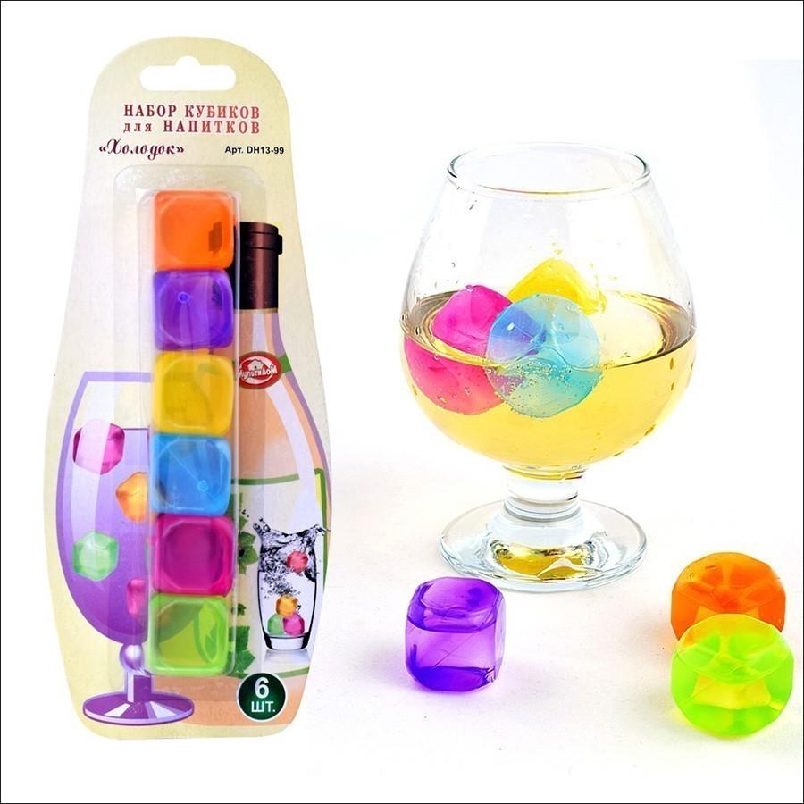 Многоразовые кубики для напитков - Холодок, 6 шт от MELEON