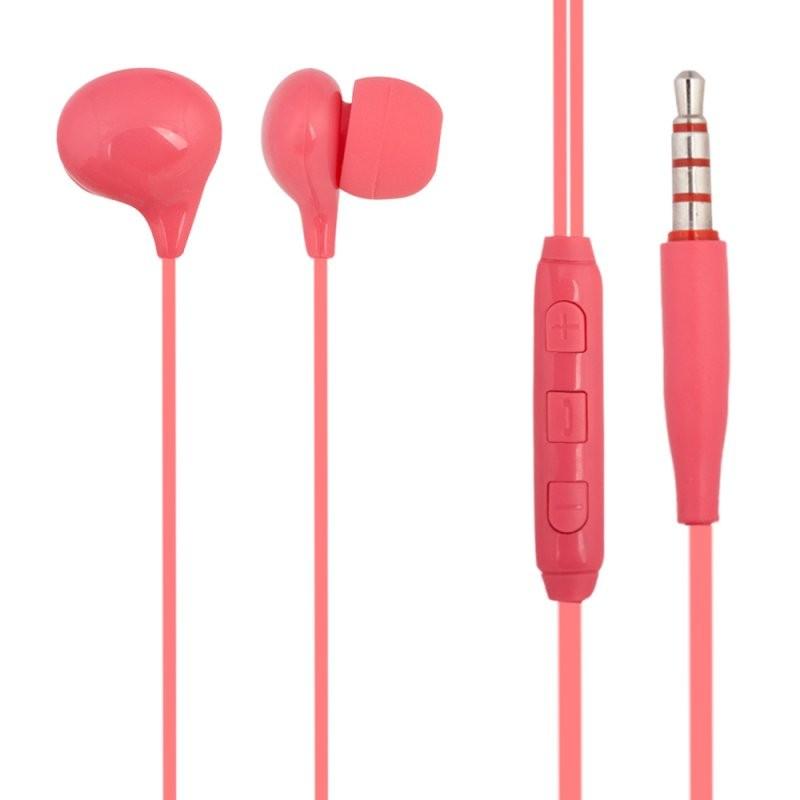 Гарнитура «LP» Candy вставная 3.5 мм. с микрофоном (розовая/коробка)