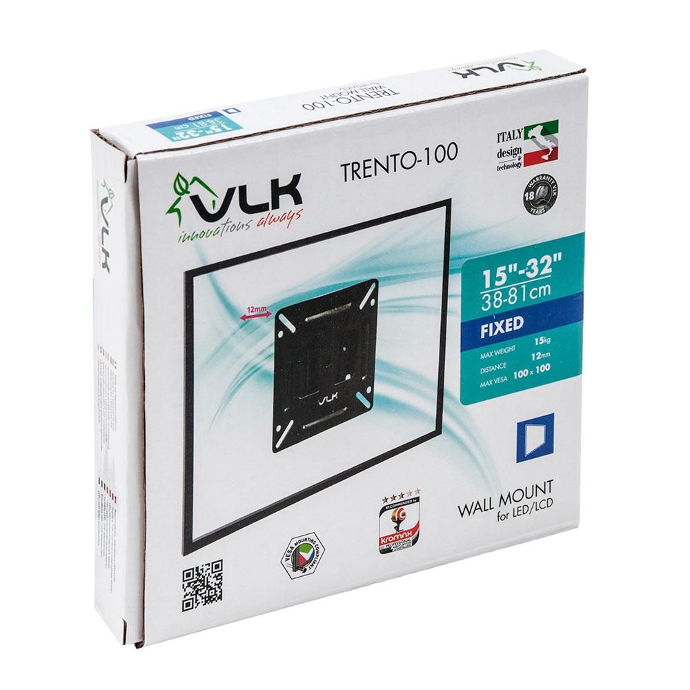 Кронштейн Kromax для LED/LCD телевизоров 15-32 д Trento-100 black, max 15 кг, настенный, чёрный