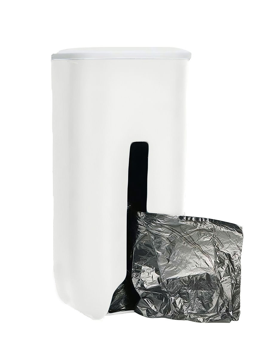 Подвесная корзина для компактного хранения пакетов, белый
