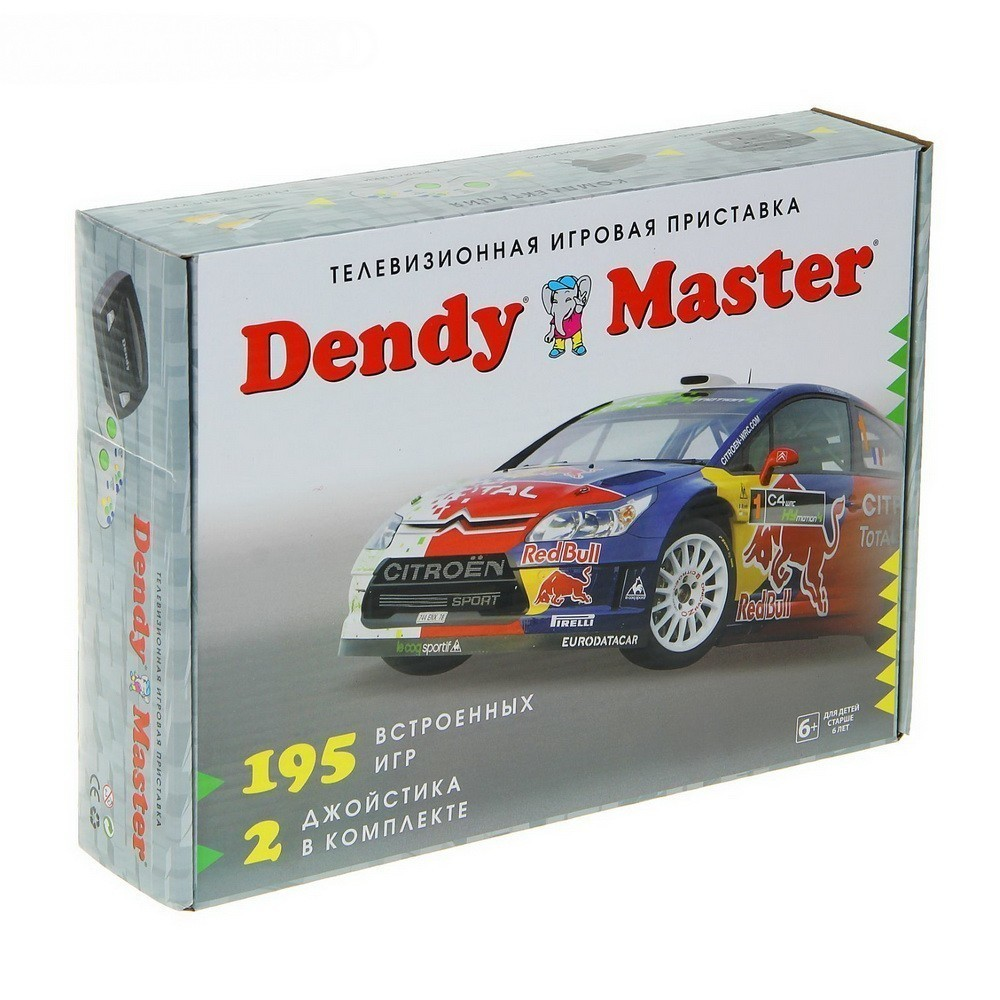 Игровая приставка Dendy Master, + 195 игрИгрушки 90-х<br>Помните, как вы в детстве пытались быстрее доделать уроки, чтобы включить 8битную приставку на телевизоре и насладиться любимыми играми? Это развлечение снова входит в моду! Благодаря игровой приставке Dendy Master (195 игр), вы можете вспомнить часы удовольствия из своего детства и познакомить свое чадо с веселыми играми!<br>