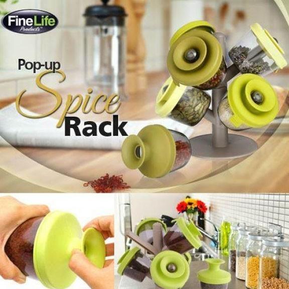Дерево для специй - подставка Pop-up Spice RackОстальные гаджеты<br>Если вы хоть раз сталкивались с тем, что специи на полке кухонного шкафчика безбожно рассыпались, то самое время купить специальную подставку Pop-up Spice Rack. Это устройство порадует не только своей функциональностью, но и эксклюзивным внешним видом!<br>