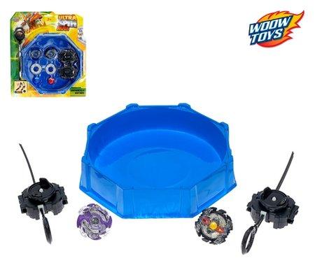 Купить Набор волчков Ultra Spin Max, 2 волчка, 2 устройства для запуска, арена, цвет микс, Настольные игры