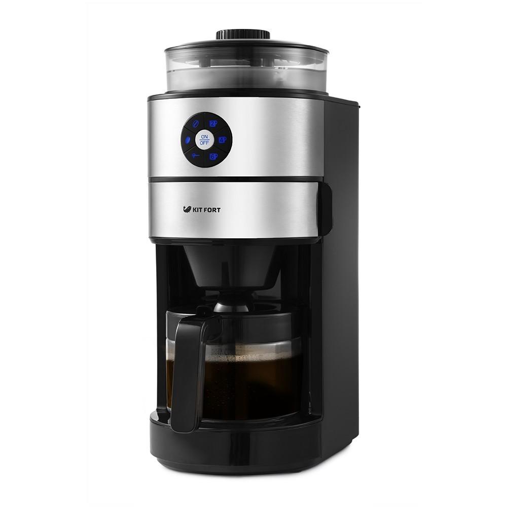 Кофемашина Kitfort КТ-716, 680-820 Вт, ёмкость кофейника 0,75 л