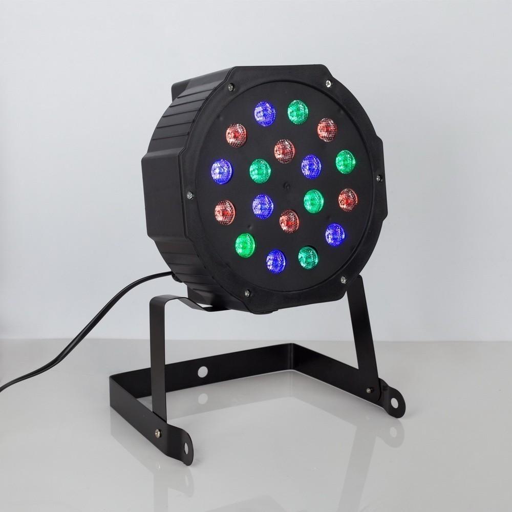 Прожектор для сцены, 18 Вт, 220 В, 18 диодов, DMX упр, RGBW
