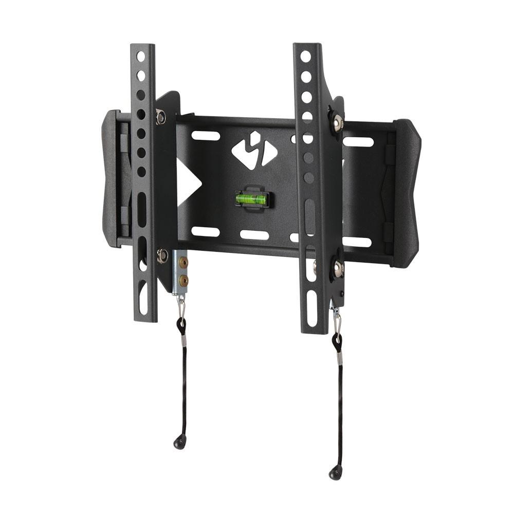 Кронштейн Kromax 6-FLAT FLAT-6 blackКронштейны<br>Настенный наклонный кронштейн FLAT-6 - долгожданная новинка в линейке кронштейнов Flat для LCD\LED-телевизоров и плазменных панелей с диагональю от 15 до 40 дюймов. Является элегантным дополнение к Вашему современному плоскому телевизору. Позволяет разместить его на минимальном расстоянии от стены (66 мм), при этом создать угол наклона +8°-12°, что даёт возможность устранить блики на экране и обеспечить комфорт и удобство при просмотре. Максимальные посадочные отверстия по горизонтали - 200 мм, по вертикали - 200 мм.<br>