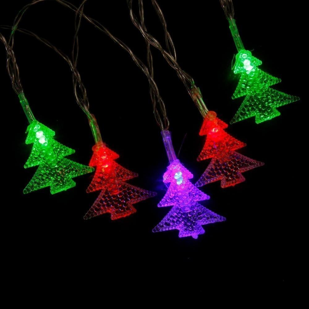 Электрическая светодиодная гирлянда - ЁлочкиНовогодние товары<br>Начинаете подготовку к новому году? Спешите купить по суперцене в интернет магазине Мелеон электрическую светодиодную гирлянду «Елочки». Аксессуар станет настоящей изюминкой как для новогодней елочки, так и для предметов интерьера!<br>