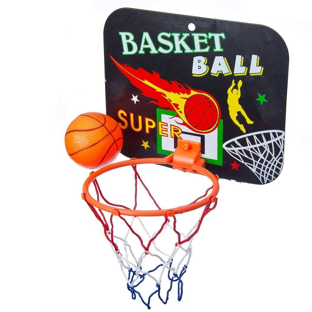 Купить Набор для баскетбола, детский, корзина, 23х18 см, 1 мяч, пластик, Подвижные игры