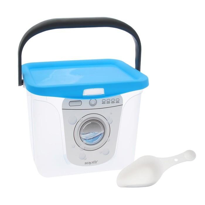 Ёмкость для стирального порошка 6 л, цвет голубая лагуна фото