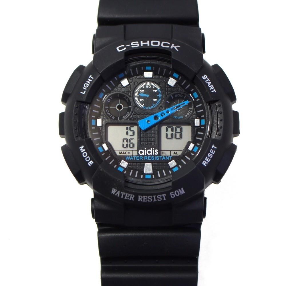 Часы спортивные Aidis my-s125pСпортивные LED часы<br>Если вы ищете оригинальный подарок для мужчины, который живет в активном и динамичном ритме, то обязательно обратите внимание на спортивные часы Aidis my-s125p. Этот аксессуар подчеркнет образ своего нового хозяина, а главное – обеспечит максимум удобства в эксплуатации!<br>