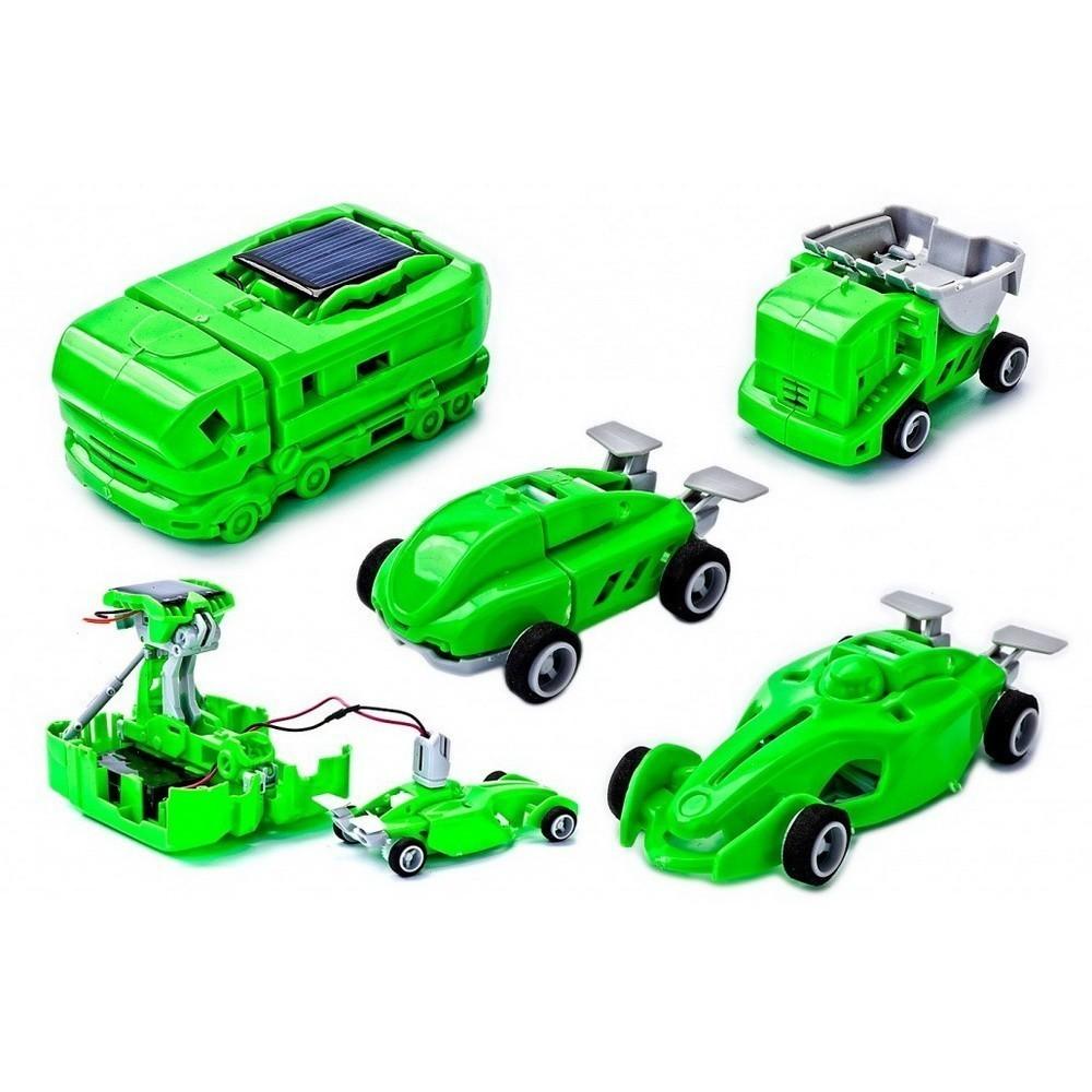 Конструктор на солнечной батарее 7 в 1 с электростанциейКонструкторы на солнечных батареях<br>Если ваше чадо увлекается трансформерами, то вы просто обязаны порадовать ребенка такой нестандартной игрушкой, как конструктор на солнечной батарее 7 в 1 с электростанцией! Из одного набора ребенок сможет собрать целых 5 разновидностей транспорта и 2 зарядные станции.<br>