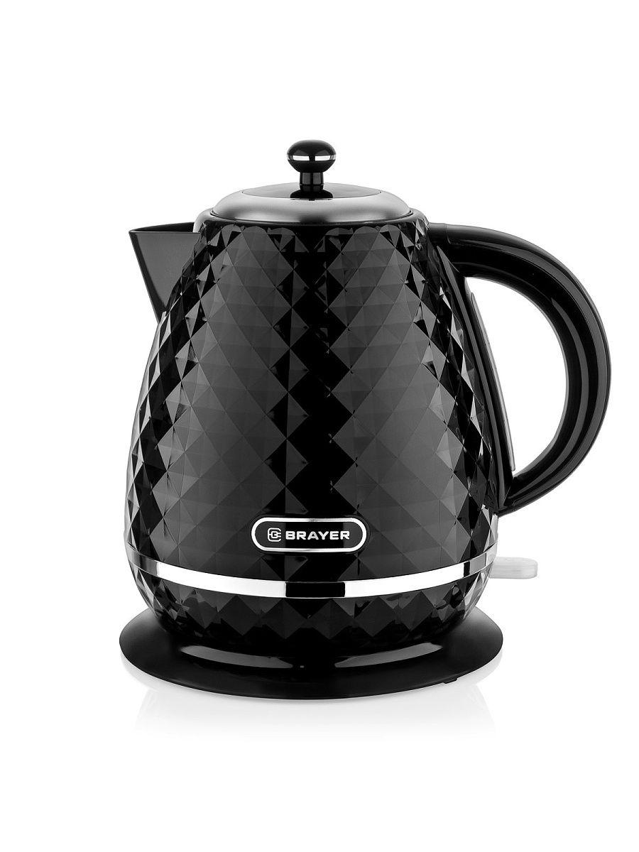 Чайник электрический Brayer BR1008BK, 2200 Вт, 1,7 л, Strix, чёрный