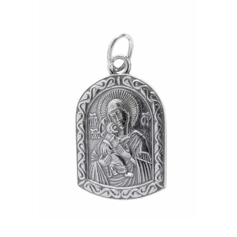 Нательная икона Владимирская икона Божией Матери