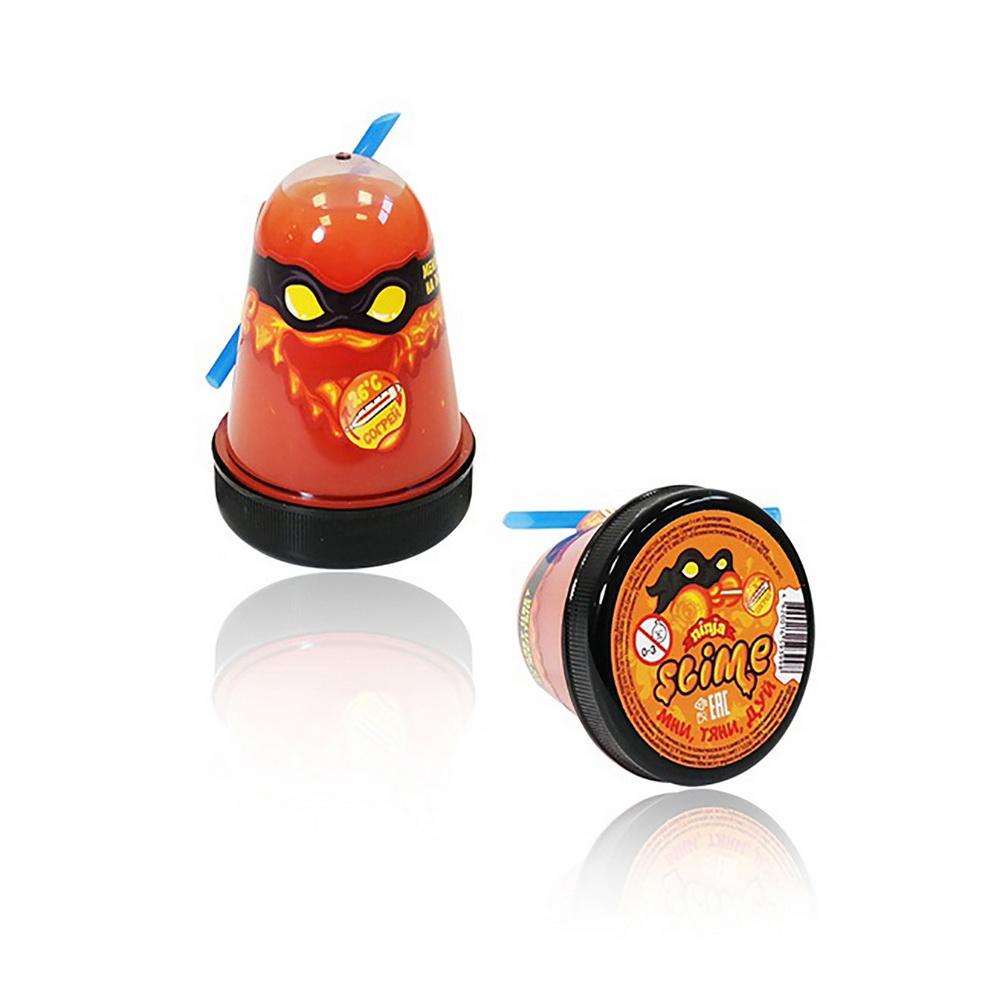 Купить Лизун Slime Ninja, меняет цвет, 130 г, жёлтый, Игрушки Антистресс