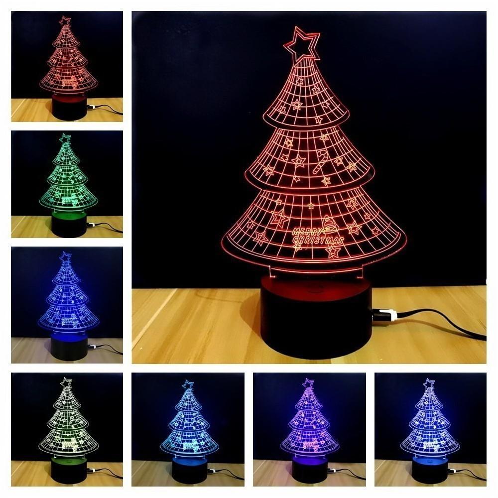3D Светильник - Новогодняя Елочка