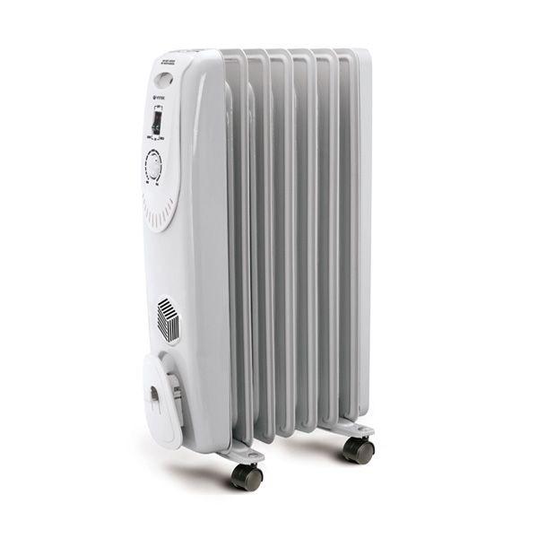 Радиатор Vitek VT-1704 WРадиаторы и обогреватели<br>Компактный, удобный и практичный радиатор VT-1704 W спасет вас от холода. Он способен создать оптимальную температуру в помещениях площадью до 20 м2, благодаря 9-ти секциям. Уникальность данного устройства заключается во встроенном тепловентиляторе мощностью 500 Вт. Поэтому ощутить тепло вы сможете не только при нахождении рядом с вентилятором, но и благодаря теплым потокам воздуха, которые будет подаваться через тепловентилятор.<br>