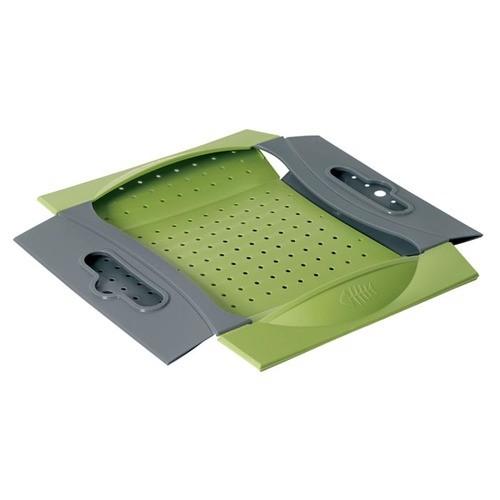 Складной дуршлаг Snapfold ColanderДуршлаги и сито<br>Дуршлаг – это незаменимый инструмент на каждой кухне. Но если вам необходим действительно качественный дуршлаг, то знакомьтесь с революционной моделью Snapfold Colander! Аксессуар отличается большой вместительностью, а также займет совсем немного места в любом кухонном шкафчике!<br>