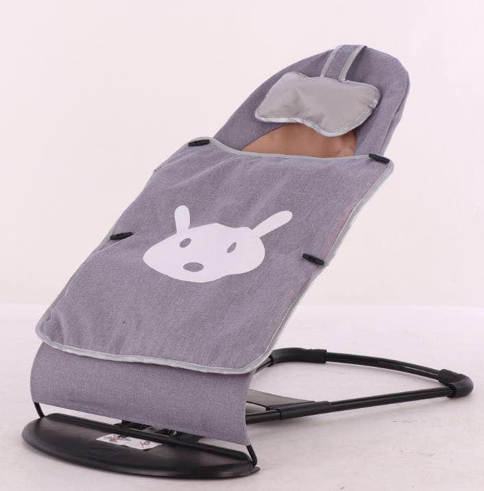 Купить Кресло-шезлонг для новорожденных - Зайка, серый, Товары для новорожденных