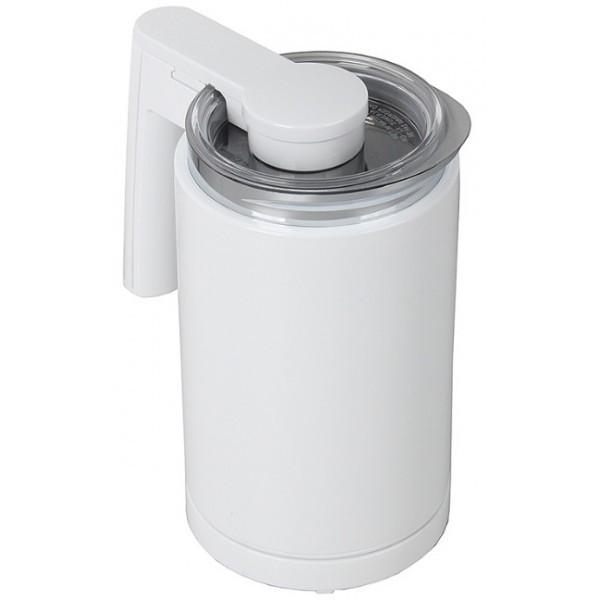 Вспениватель Melitta Cremio II белыйМиксеры<br>Можно взбивать любое молоко: жирное и безлактозное, коровье, соевое или миндальное, горячее и холодное.<br>Готовит идеальную мелкодисперсную пену!<br>