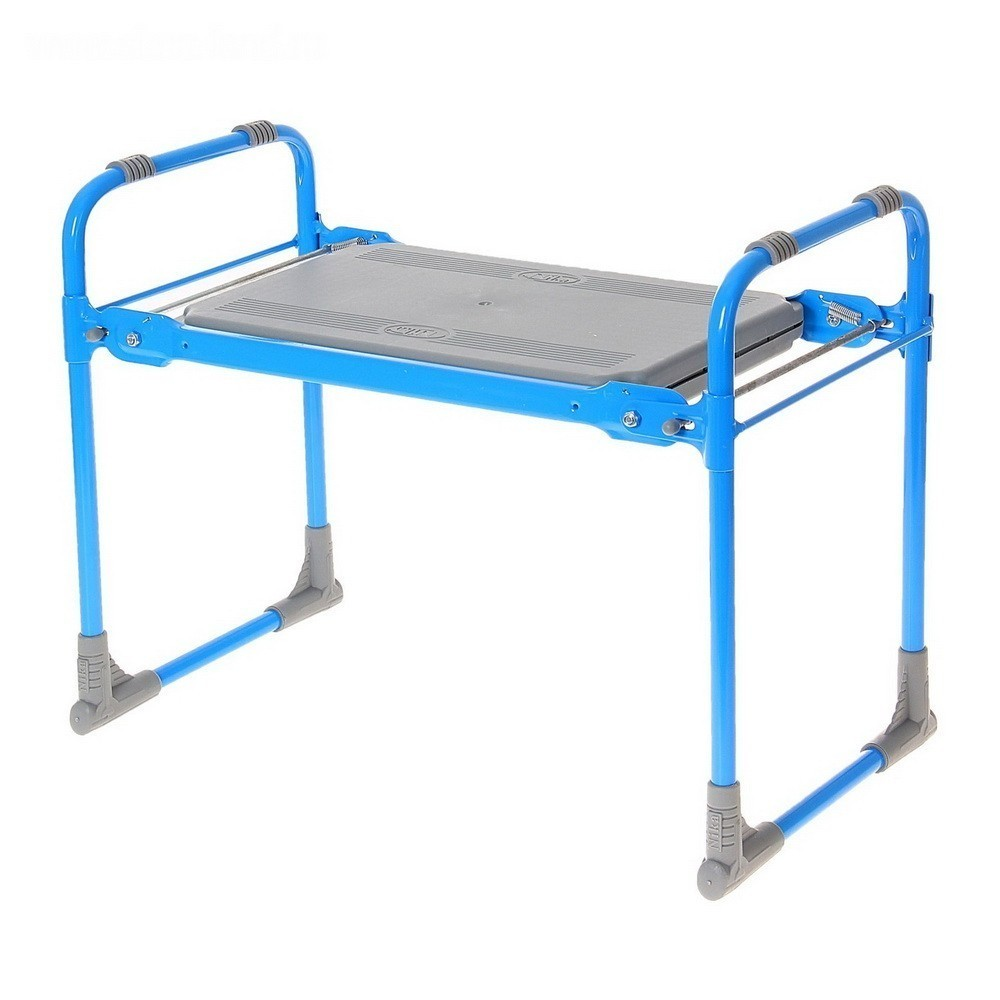 Скамейка перевертыш садовая, складная, голубой