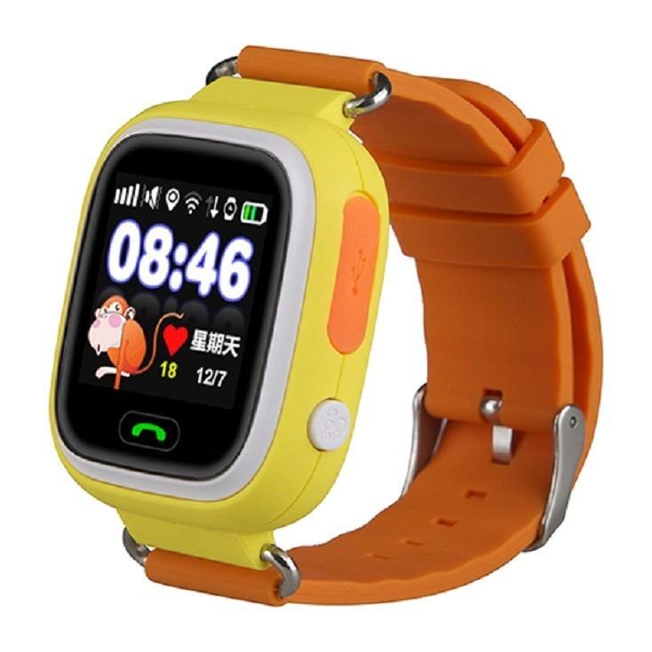 Smart Baby Watch Q80 - умные детские часы с GPS, оранжевые