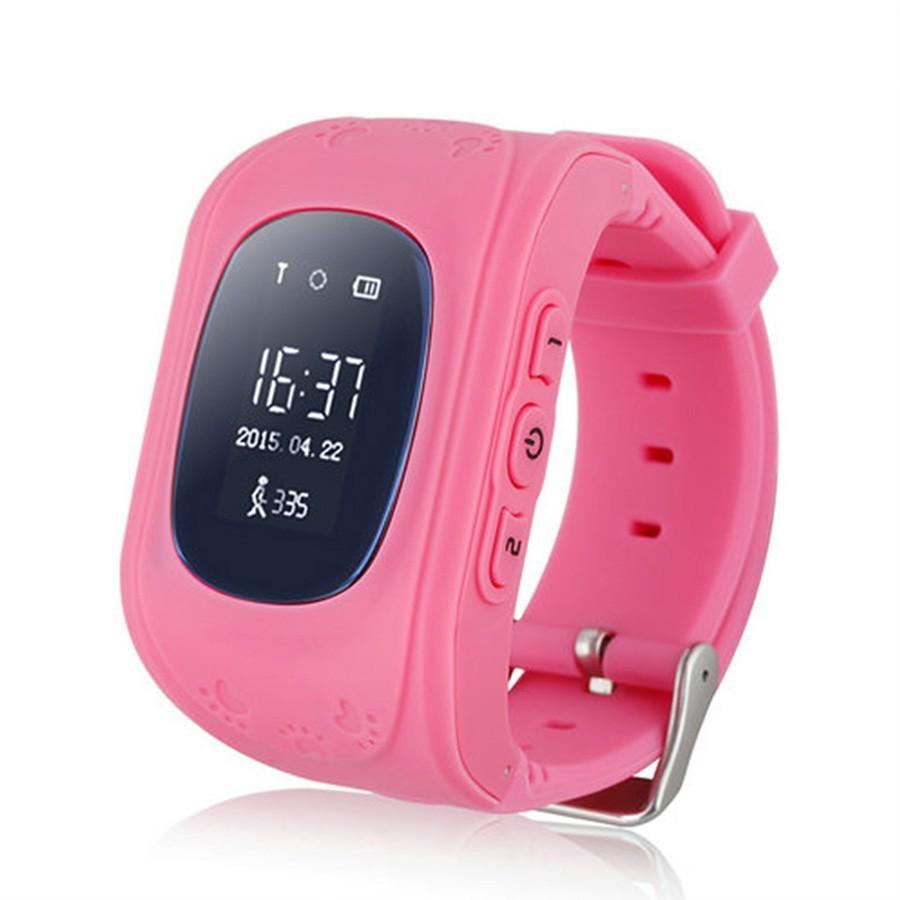 Детские часы GPS трекер Smart Baby Watch Q50 — розовые