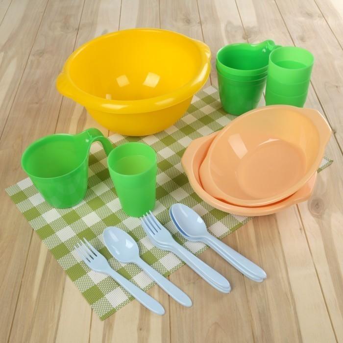 Набор посуды - Праздничный, 21 предмет