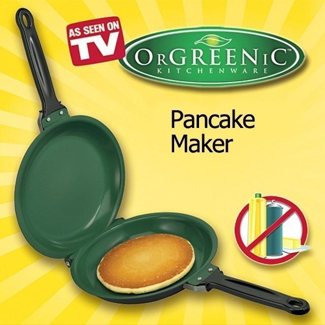 Двухсторонняя сковорода для блинов и омлета Pancake MakerСковороды<br>Дети все чаще и чаще просят приготовить блинчики? А может в вашей семье каждое утро начинается с омлета? Интернет магазин Мелеон предлагает вам купить революционную изобретение, двухстороннюю сковороду для блинов и омлета Pancake Maker, которое облегчит и ускорит приготовление любимых блюд ваших близких!<br>